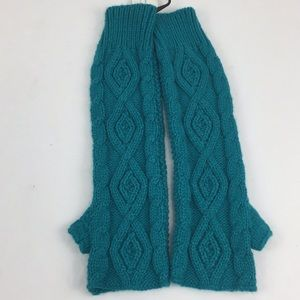 NWT PacSun long blue cable knit fingerless gloves
